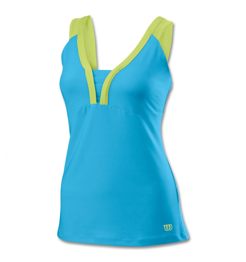 Wilson Solana V-Neck Tank Tennis Shirt