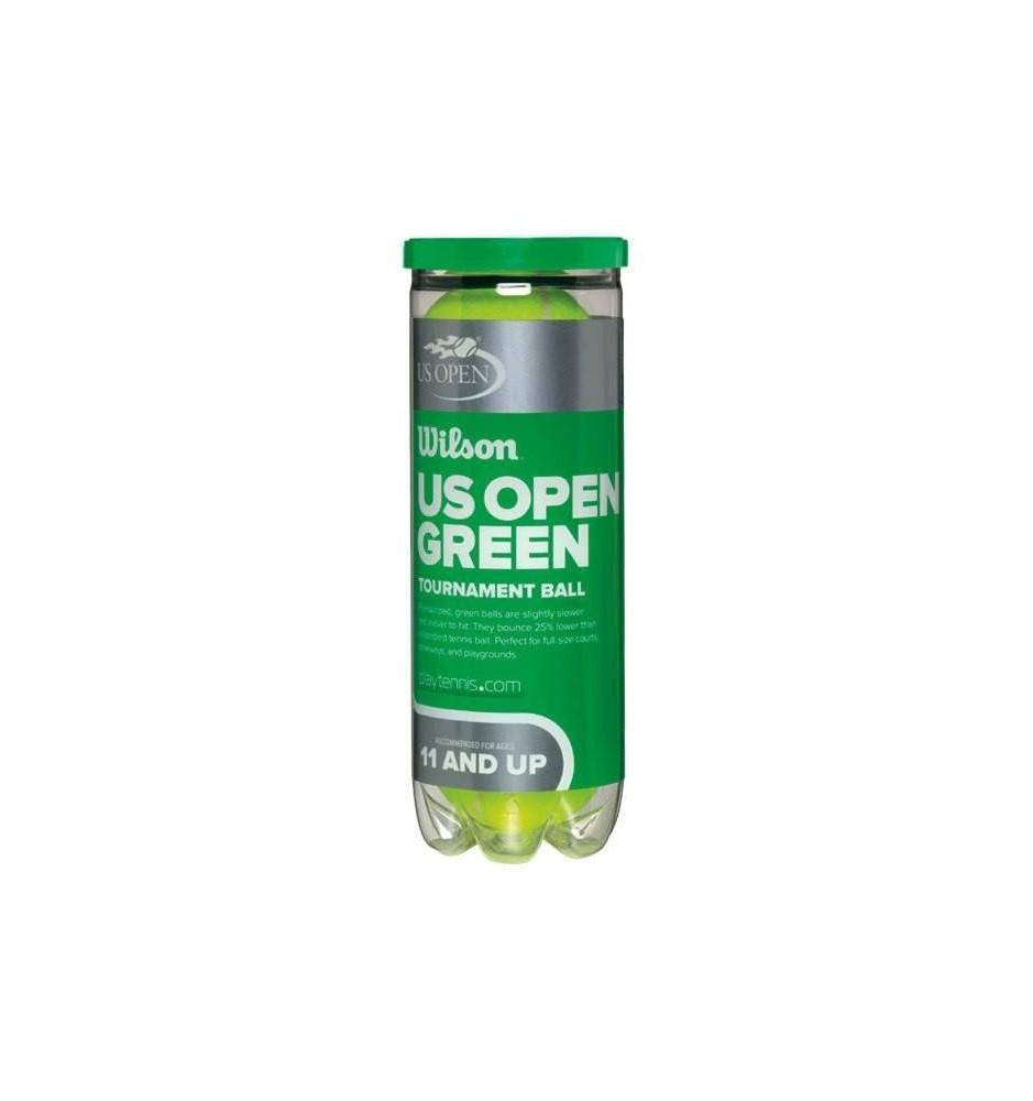 Wilson US Open green dot ball (3 ball tin)