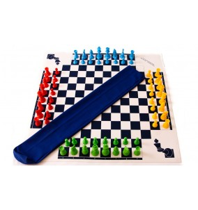 Chess Four Player Set with Superior Vinyl...