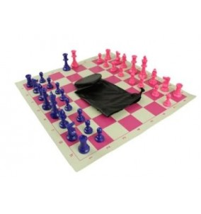 Chess Superior Vinyl Roll-up Board and Bag